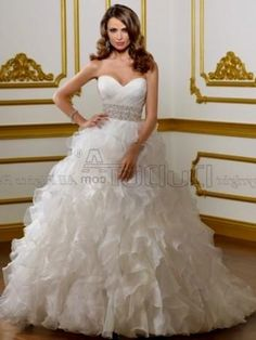 princess wedding dress strapless - Google Search