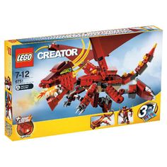 Black Friday 2014 LEGO Creator Fiery Legend from LEGO Cyber Monday. Black Friday specials on the season most-wanted Christmas gifts. Lego Creator Sets, The Creator, Korean Dragon, Lego London, Best Lego Sets, Light Brick, Lego Mindstorms, Black Friday Specials, All Lego