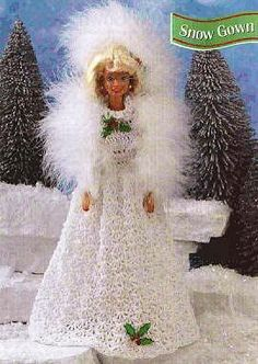 Crochet, Barbie, Snow Queen