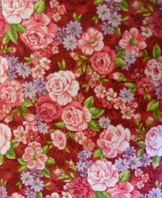 Cotton FAbric, Quilt Fabric, Home Decor, Rose Cottage, Clothworks, Fast Shipping, F155