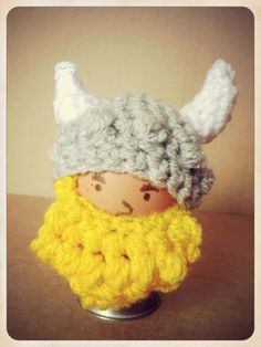 Cutie and the Feast - Eggbert the Terrible, Viking egg cosy.