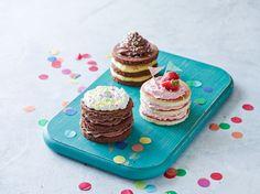Fine lagkager i børnestørrelser #karenvolf #lagkagebunde #børnefødselsdag #tips