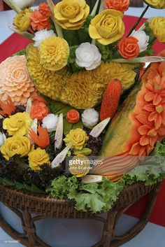 Thai Fruit Carving - One of the best things about Thai cuisine is ...