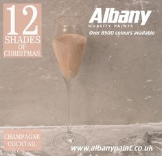 Champagne Cocktail from Albany Paint www.albanypaint.co.uk