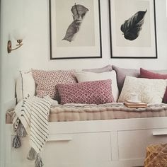 Brimnes day bed with draws $349 from IKEA Hepburn brass & glass wall lights $105 from Schots Home Emporium Prints from Paper Plane store Ikea Daybed, Daybed Room, Small Room Bedroom, Home Decor Bedroom, Spare Room, Hemnes Day Bed, Daybed With Storage, Glass Wall Lights, Ideas