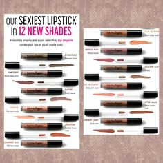 12 New Shades of NYX Lip Lingerie @nyxcosmetics