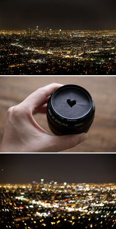 #11  Cut Out A Heart Shape In A Cardboard For A Heart-Shaped Bokeh