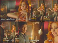"#Shadowhunters 1x10 ""This World Inverted"" - Clary and Magnus"