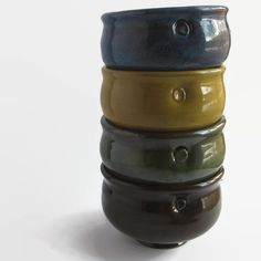 Unique Stacking Bowl Set of 4 Soup Bowls Set of by ACoupleofCranes