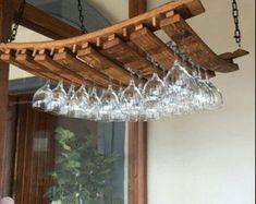 Wine Rack Wall, Wine Glass Holder, Wine Racks, Wine Barrel Crafts, Whiskey Barrel Furniture, Barris, Barrel Projects, Dining Chair, Wine Barrels