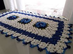 Bathroom Crafts, Crochet Carpet, Soft Furnishings, Table Runners, Crochet Projects, Couture, Lily, Make It Yourself, Blanket