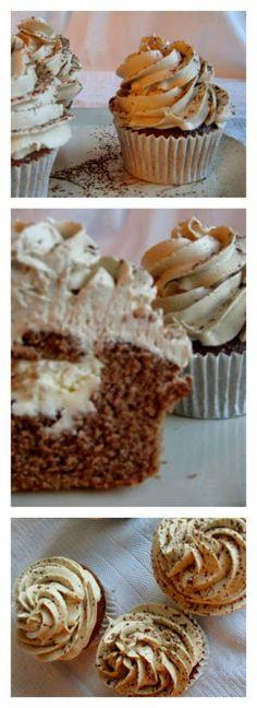 Delicious Italian Dessert: Chocolate Cupcakes Stuffed with Mascarpone & Mocha Buttercream Recipe