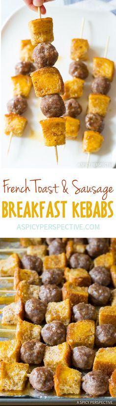 Fun French Toast Sausage Breakfast Kebabs Recipe