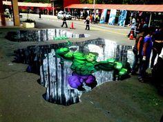 'The Hulk' 3D Street Art |AmazingStreetArt|