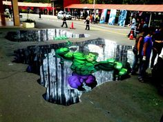 'The Hulk' 3D Street Art |AmazingStreetArt|