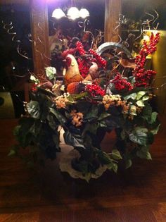 Rooster Centerpiece I Made!
