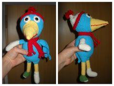 Crochet Calamity crow - Pták Pohromák #calamity #crow #ptak  #pohromak