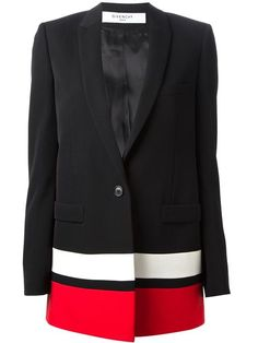 Shop Givenchy contrasted hem blazer in Russo Capri from the world's best independent boutiques at farfetch.com. Over 1000 designers from 60 boutiques in one website.