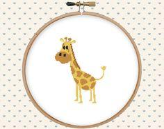 Cute giraffe cross stitch pattern pdf  instant by GentleFeather
