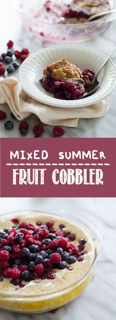 Mixed berry fruit cobbler recipe
