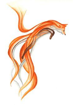 Jumping Fox Canvas Print