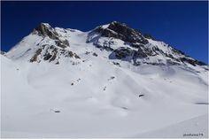 La Grande Casse et le lac Long sous la neige