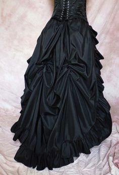 Victorian Gründerzeit Schleppe Gothic WGT Rock  von Historische Kostüme auf DaWanda.com