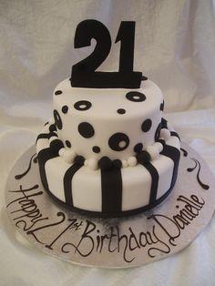 Cute 21st Birthday Cake