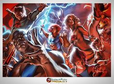 Thundercats by Felipe Massafera #thundercats #80s #painting #gouache #anime #art #illustration