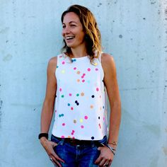 Confetti 100% Organic Cotton Ladies Top designed by DoopsDesigns