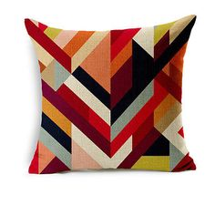 Simple Geometry Cotton Linen Pillow Case Sofa Throw Cushion Cover Home Decor