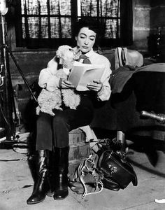 Joan Crawford on set of Johnny Guitar