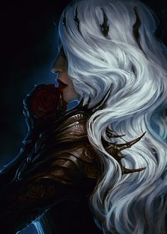 Legends describe her as a beautiful woman. With hair as white as a dove's feather and lips as red as a rose. However, the part they always seem to hide is that her lips were not naturally red but red because they were painted with the blood of her enemies, in the literal manner....
