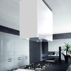 The Lombardy series range hoods from Italian manufacturer Futuro Futuro are a modern kitchen designer's dream. Kitchen Fan, Kitchen Hoods, Kitchen Decor, Island Range Hood, Range Hoods, Foster House, Island Cooktop, Kitchen Fixtures, Interior Design Kitchen