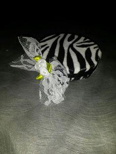 Zebra striped pill box hat Etsy.com/shop/NemesiasCreations