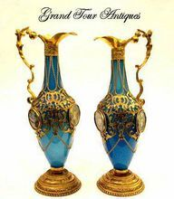 High Quality French Opaline Ewers from Grand Tour Antiques on Ruby Lane