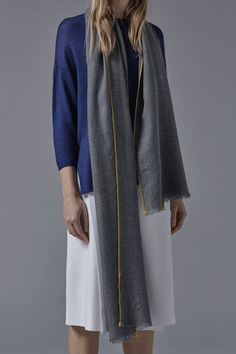 Sonya Cashmere Shawl in Slate Grey Cashmere Throw, Cashmere Shawl, Accessories Shop, Luxury Lifestyle, Slate, Duster Coat, Dressing, Gowns, Silk