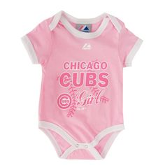 Majestic Sports Infant Girl Chicago Cubs Bodysuit #VonMaur
