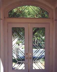 beveled glass entry window door contemporary