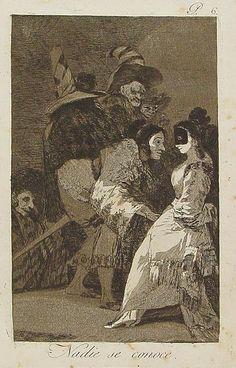 """Francisco de Goya - Nadie se conoce, 1799. Los Caprichos nº 6. """"Todos quieren aparentar lo que no son, todos se engañan y nadie se conoce""""."""