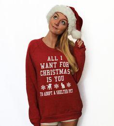 All I Want For Christmas Eco-Fleece Sweatshirt – The Tree Kisser