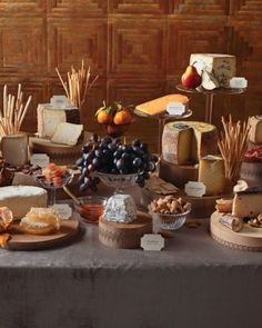 Jerky, cheese, grapes, whole fruits and assorted breads - cheese (from S6:E4…