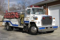 Center Township Volunteer Fire Department (La Porte, IN) Tanker 254 - 1995 Ford 8000/S - 500gpm/3000gal http://setcomcorp.com/wes.html