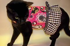 RockinDogs Mod Pink Paisley and Houndstooth Cat by Rockindogs, $24.95