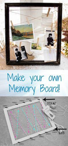 DIY Hemp and Frame Memory Board Collage