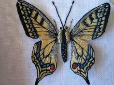 Papillon brodé - Martine Biessy