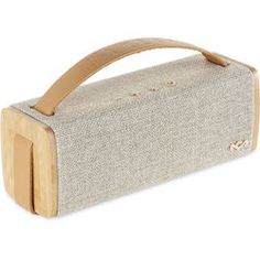 House of Marley Riddim BT Portable Audio System (Natural) Home Audio Speakers, Bluetooth Speakers, Speaker System, Audio System, Tech Gifts, Electronics Projects, Arduino, Leather, Desiderata