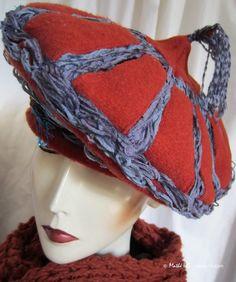 Winter Mütze Mongolischer Stil ziegelrot par MatheHBcouture sur Etsy