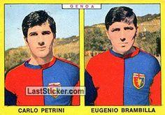 CARLO PETRINI - EUGENIO BRAMBILLA 1966-67 GENOA Panini Calciatori 1966-1967 - Collection preview - laststicker.com