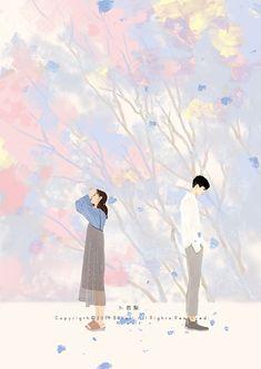 Cute Couple Art, Anime Love Couple, Couple Cartoon, Cute Anime Couples, Romantic Anime Couples, Couple Illustration, Illustration Art, Anime Neko, Anime Art